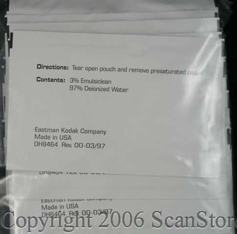 Kodak Cleaning Pads (Emulsion) for Digital Science Series Scanners